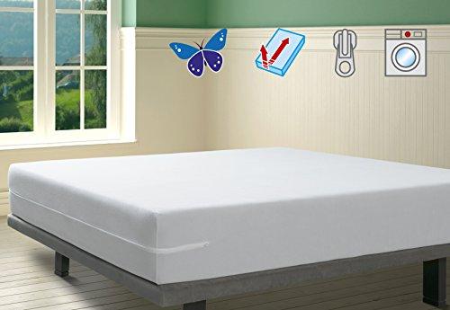 SAVEL, Funda colchón Rizo Microfibra, elástica Ajustable
