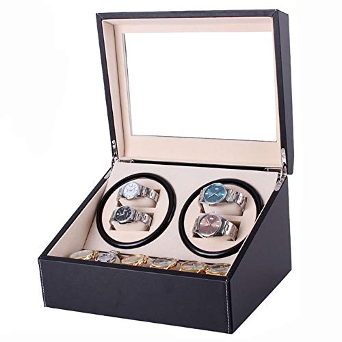 K-Y Watch Winder Scatola Orologio Organizer in Pelle per 4 + 6 Storage Display Box (Colore : C)