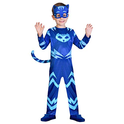 amscan- PJMASQUES Costume Pj Mask Cat Boy (5-6 Anni), Multicolore, 5, 7AM9902953