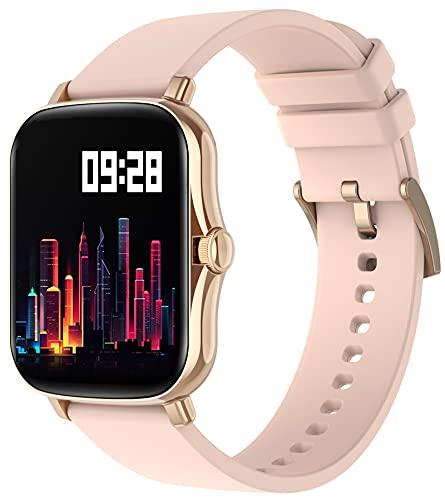 Reloj de pulsera para mujer con medición de la presión arterial, pulsómetro, podómetro, calorías, resistente al agua, reloj deportivo, reloj de fitness, monitor de sueño