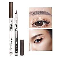 4フォーク眉毛タトゥーペン、自然な形の眉毛用の液体リキッドペンシルペンシルロングラスティングウォータープルーフメイクアップツール(グレー)