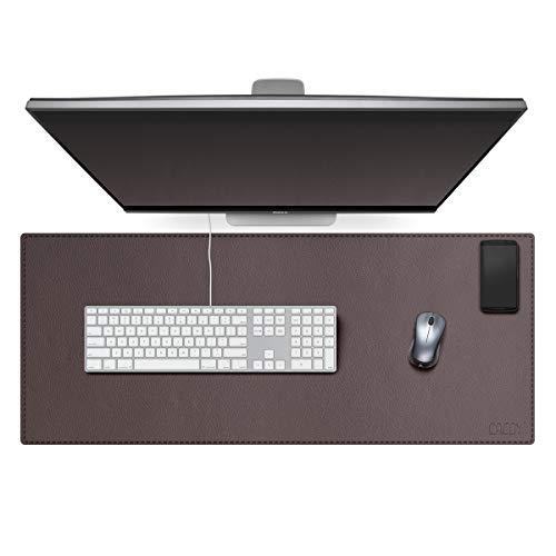 scrivania gaming 40 cm Cacoy Tappetino per Mouse da Gaming in Pelle PU