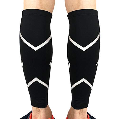 Beister - 1 par de pantorrilleras de compresión, para hombres y mujeres, alivian el dolor y favorecen la recuperación, ideales para correr, viajar o ciclismo