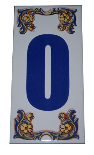 Moroccan Decorative House Numbers Ceramic Tile Mexican Spanish Mediterranean #0
