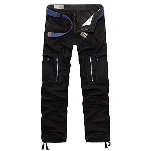 Mieuid heren lange vintage cargobroek werkbroek outdoor chic vrijetijdsbroek chino-stof broek jogging pants zonder