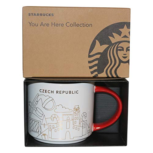 Starbucks City Mug Prag You Are Here Collection Prague Winter Collection Christmas Kaffeetasse Coffee Cup (rot/weiss)