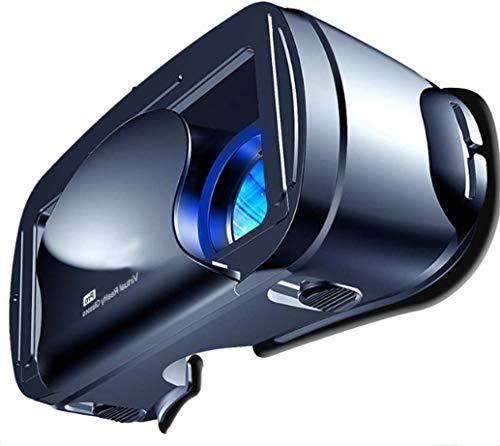 R-STYLE 5~7インチの大型スマホ対応 VRヘッドセット 3D VRゴーグル 瞳孔 焦点距離調節 ブルーライトカットレンズ Bluetoothコントローラ付 120°視野角 (ブラック)
