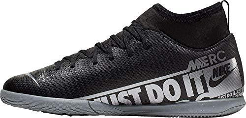 Nike Unisex-Kinder Jr Superfly 7 Club Ic Fußballschuhe, Mehrfarbig (Black/MTLC Cool Grey/Cool Grey 1), 32 EU