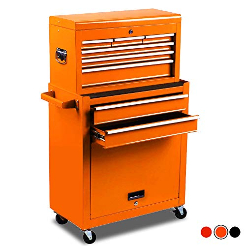 High Capacity 8-Drawer Rolling Tool Chest with...