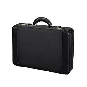 Alassio 45039 - Attaché Laptop Koffer MODICA, aus strapazierfähigem Lederimitat, ca. 45,5 x 32,5 x 10,5 cm, schwarz