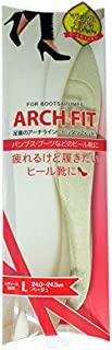 荒川産業 アーチフィット ベージュ Lサイズ(24.0-24.5cm) 【レディース インソール】