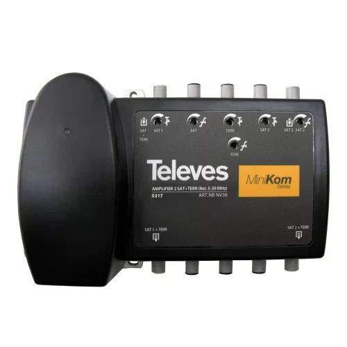 Televes 5317 - Central amplificador ict corriente alterna minikom 2 fi+matv