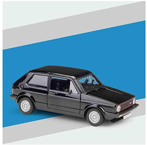hongshen Die-casting Car Model Car Realistic Golf Mk1 GTI 1979 Model Alloy Children's Toys Can Open the Door Suitable (Color : Black)