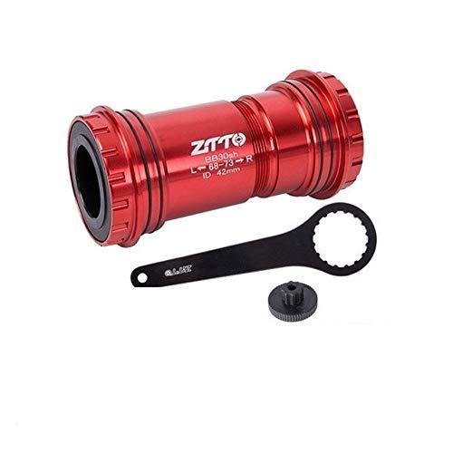 QXYOGO Eje Pedalier Adaptador de Bicicletas Press Fit Inferior Soportes del Eje del cojinete de cerámica for la Bici del Camino de 24 mm de Piezas Bielas Chainset 05 (Color : BB30 24 RD CR Tool)