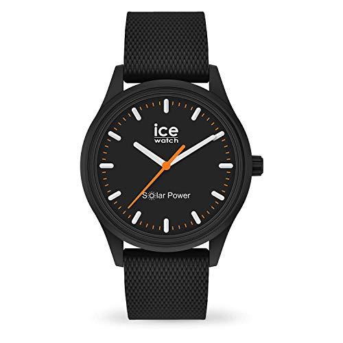 ICE-WATCH ICE Solar Power Rock Rock Mesh - Reloj Negro para Hombre con Correa de Silicona, 018392 (Medium)