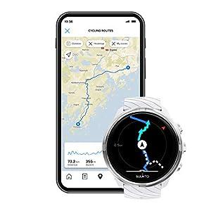 Suunto 9 Reloj deportivo GPS con batería de larga duración y medición de la frecuencia cardiaca en la muñeca, Blanco, SS050143000