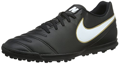 Nike Tiempox Rio III TF, Botas de fútbol para Hombre, Negro Black White, 41 EU