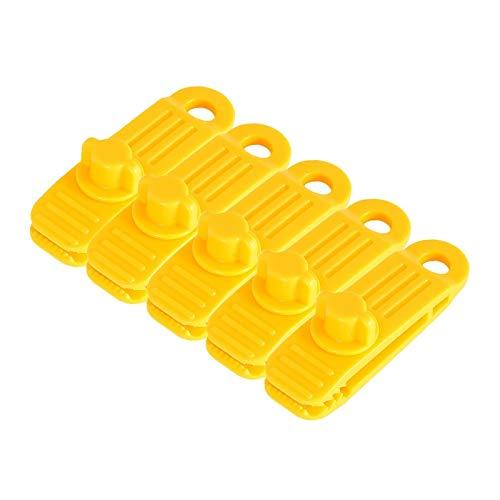 Duradero 5 UNIDS Reutilizable Linoleum Tent Clips Tienda en forma de dientes Tarpa Tarpaulin Clip Impermeable Bloqueo único Abrazadera Hebilla Camping Herramientas de camping para toldos, fundas de lo