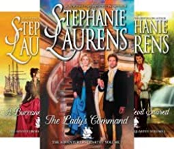 Stephanie Laurens' ADVENTURERS QUARTET -- Lady's Command / Buccaneer at Heart / Daredevil Snared / Lord of the Privateers