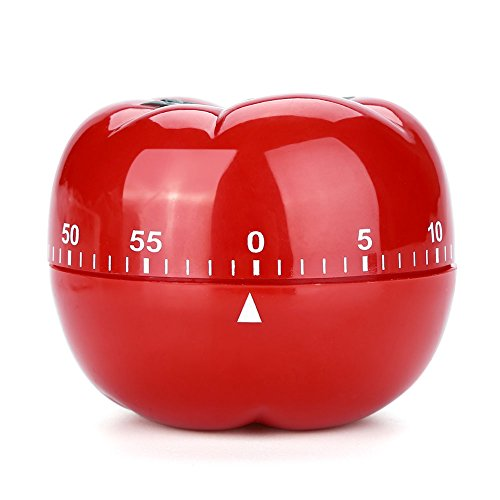 Tomato Shaped Mechanical 60 Minutes Countdown Timer Kitchen Cooking Baking Helper