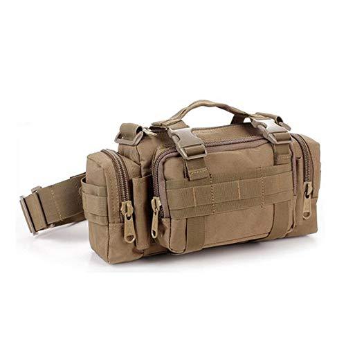 Tailcas 600D Impermeable Utilidad Táctico Cintura Paquete Bolsa Hombro de Mano Militar Camping Senderismo Deporte Exterior Multiusos Bolsa, Especialmente Diseñado para Niños/Adolescentes/Hombre