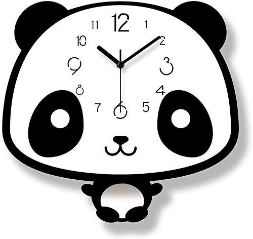 Material de acrílico puntero blanco y negro color forma niños s dormitorio pero péndulo reloj/reloj/pared