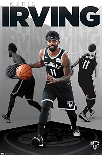 "Trends International NBA Brooklyn Nets - Kyrie Irving 19 Wall Poster, 22.375"" x 34"", Premium Unframed Version"
