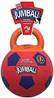 Gigwi Jumball Soccer Ball for Dog, Orange-Purple
