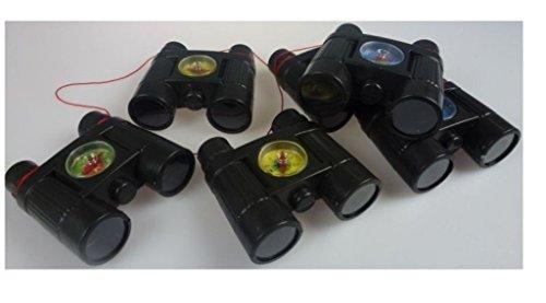 6 Stück Kinder Ferngläser mit eingebautem Kompass und Umhängeschnur, Fernglas, Fernrohr, Mitgebsel, Mitbringsel