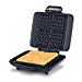 Dash DNMWM455SL Deluxe No-Drip Belgian Iron 1200W Maker Machine For Waffles, Hash Browns, or Any Breakfast, Lunch, & Snacks with Easy Clean, Non-Stick + Mess Free Sides, Silver (Renewed)