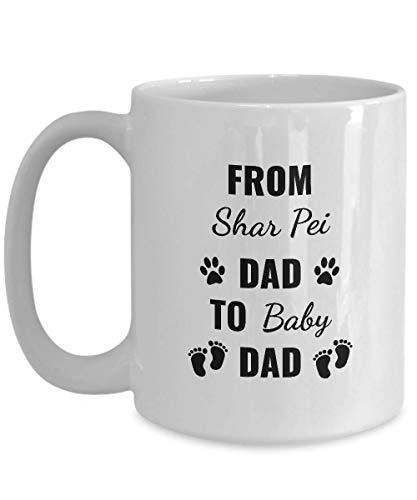 N\A Taza de café de Regalo Bull Terrier - De papá Bull Terrier a papá bebé