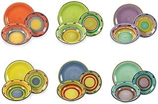 Multicolore Villa dEste Home Tivoli mar/ée Service Table Porcelaine 18/unit/és