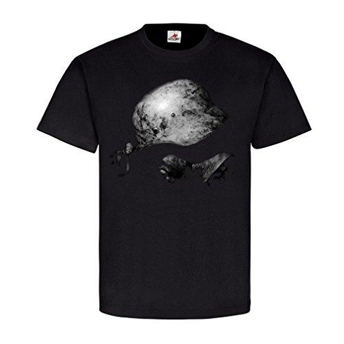 WW2 German Soldier Stahlhelm Winter Camo Deutscher Soldat Elite T Shirt #22740, Größe:XL, Farbe:Schwarz