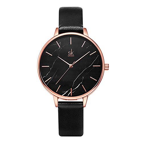 SHENGKE Reloj Mujer Reloj De Cuarzo Ultra Delgado De Mármol Relojes Creativos para Señora Impermeable