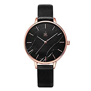 SHENGKE Marble Watch Quartz Ultra-Thin Minimalist Watch for Women Creative Women Watches Waterproof,Relogio Feminino