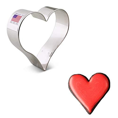 Ann Clark Ausstechform - Herz - 10.16 cm - US verzinnter Stahl