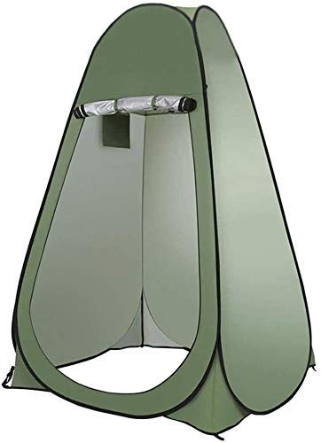 NLRHH Pop-up Tent Outdoor Privacy Tent, Portable Pop Up Changing Room, Mobile Shower Tent,oilet Tent, Sunshade Backpack Shelter Canopy for Camping Fishing Hiking Beach peng (Color : Green)