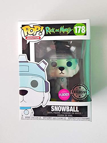 Funko - Rick and Morty-Snowball Flocked Figurina, Multicolor, 24565