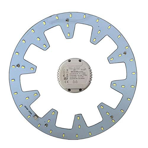 LED Modul - Umbau Set (dimmbar/nicht dimmbar) für Deckenleuchte Ringlampe Deckenleuchte Rundlampe Röhrenlampe (warmweiß/tageslichtweiß)) (24 Watt, warmweiß, dimmbar)