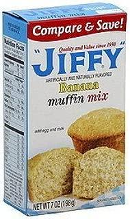 Jiffy, Banana Muffin Mix, 7oz Box (Pack of 6)