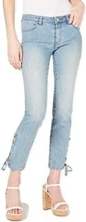 Michael Michael Kors Lace-Up Skinny Jeans Blue 16