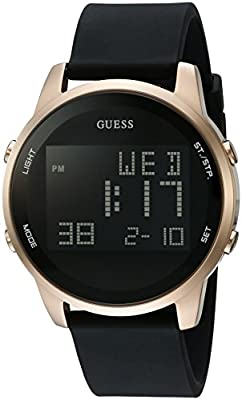 GUESS Men's Stainless Steel Digital Silicone Watch