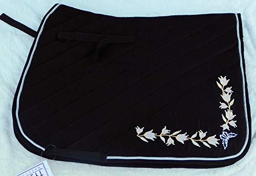 Schabracke Spanisch Antik Schwarz Blumen Schwarz Tysons Dressur Satteldecke