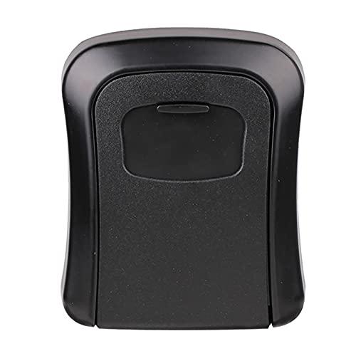 Lmsoed Combinación de soporte de pared Lock Box Key Storage Portable Lock Box Seguridad Impermeable Grande Interior para fuera del garaje