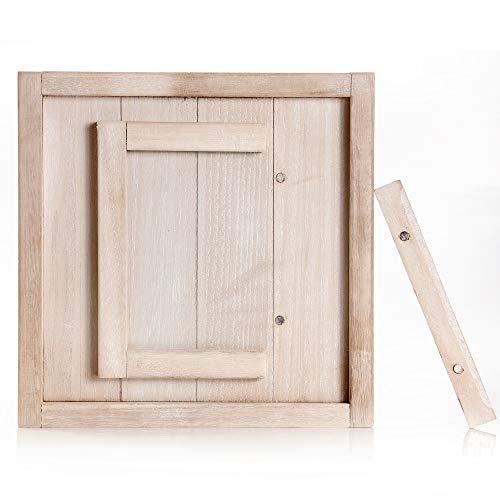 Anchor Method Bilderrahmen, rustikaler Stil, Scheenholz-Stil, 12,7 x 17,8 cm, schöner Akzent für Heimdekoration, mit magnetischer Öffnung
