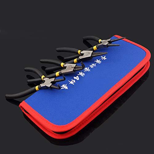 Alicates de fabricación de joyas de 4 piezas Herramientas con alicates de punta fina Alicates de punta redonda para reparación de joyas, manualidades de envoltura de alambre(7 inch)