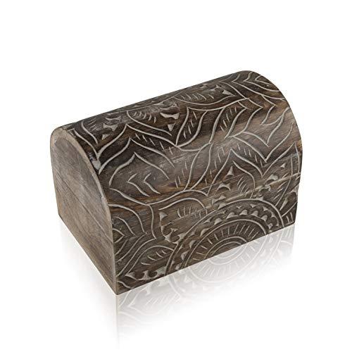 Great Birthday Gift Ideas Handmade Decorative Wooden Jewelry Box Treasure Box Jewelry Organizer Keepsake Box Treasure Chest Trinket Holder Lock Box Watch Box 9 x 6 Inch Anniversary Gifts Her
