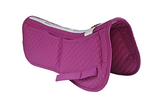 ECP Cotton Correction Half Saddle Pad - Memory Foam Pockets - Rose