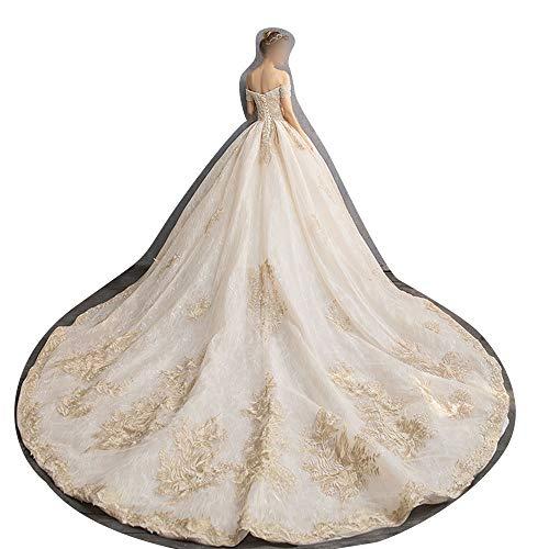 ZSRHH-Kleid Frauenkleid Ballkleid Sweetheart Brautkleid Hochzeit Braut für Frauen Brautkleider (Design : Trailing, Size : S)