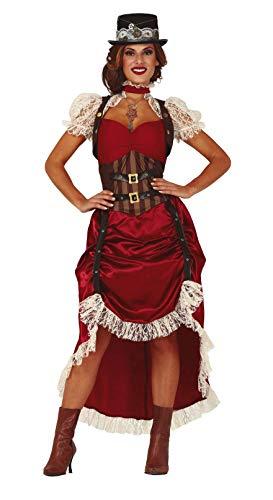 Guirca Steampunk Kostüm für Damen Größe S-L - Fasching Karneval, Größe:M